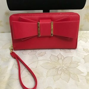 BETSEY JOHSON RED WALLET.